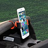 Premium Universal Phone mount holder for Car, Bicycle, Air Vent, Golf Cart, Desktop Mount, Motorcycle, GPS, Exercise Bike and Handlebars. Great Gift! (Red)