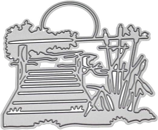 Cutting Dies Cut Stencils for DIY Scrapbooking Photo Album Decorative Embossing Paper Dies for Card Making Template Lakeside View Metal Die Cuts