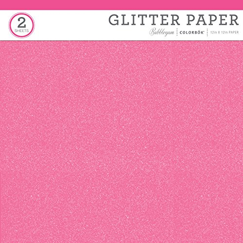 ColorBok 67289C Value Glitter Paper,Glitter Bubblegum,12