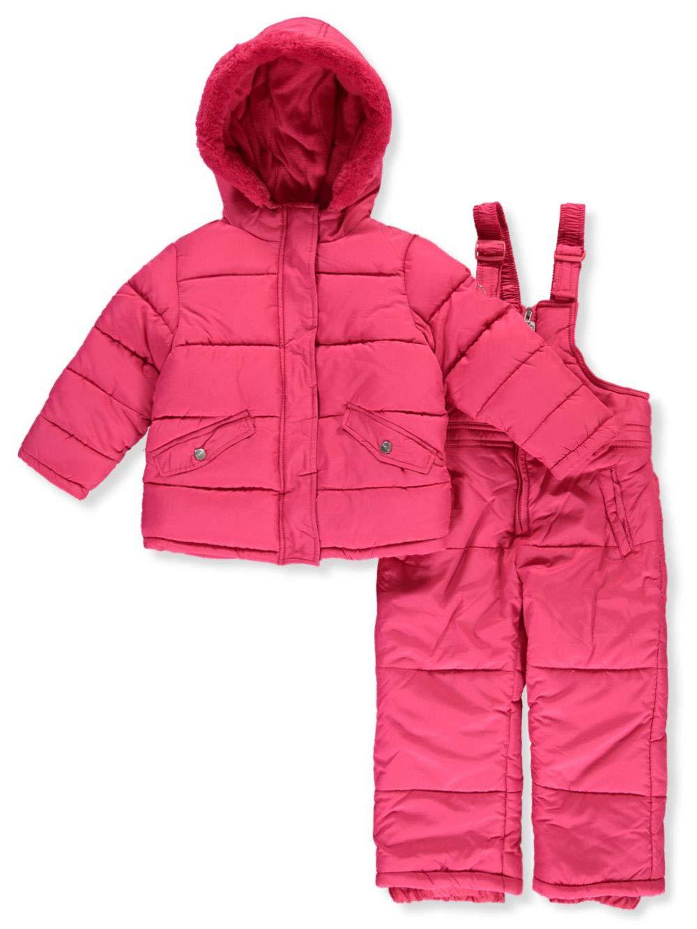 DKNY Girls' Inner Fleece 2-Piece Snowsuit - Fuchsia, 4t by DKNY
