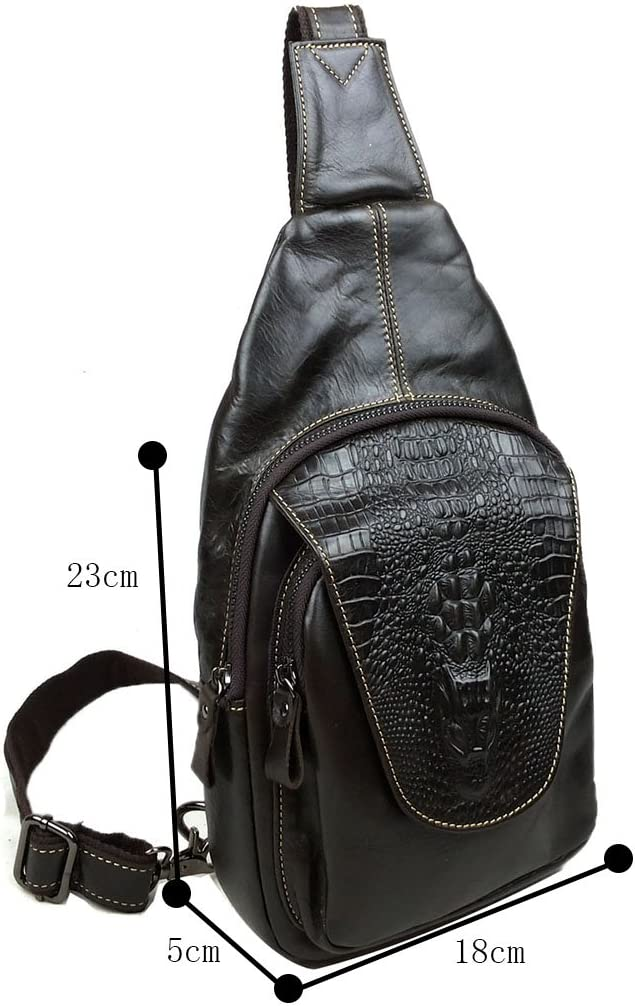 Genda 2Archer Crocodile Embossed Cross Body Shoulder Chest Bag Travel Bag