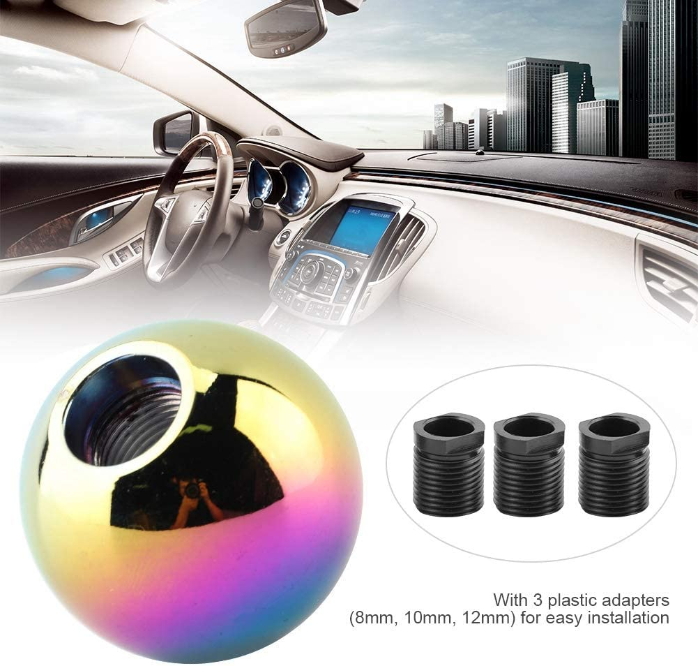 Bouton de changement de vitesse bouton manuel universel de voiture Forme de boule ronde avec t/ête de changement de vitesse Bleu
