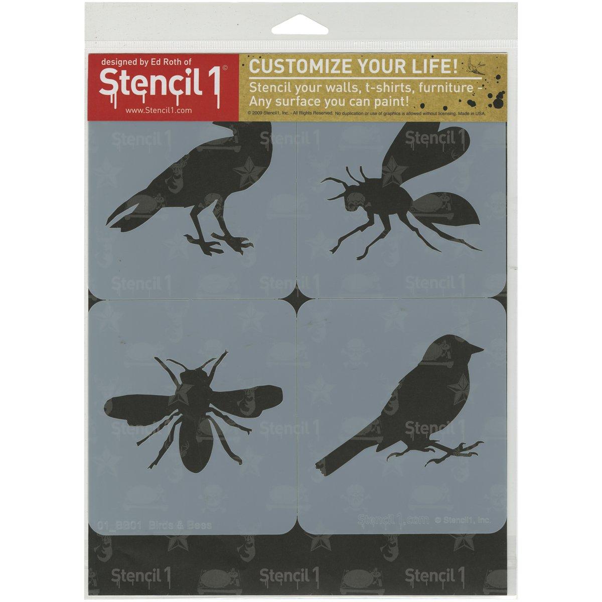 Stencil1/plastic1/Set 4/kg-Bird und Bienen Thema