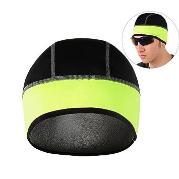 Gorra de casco de ciclismo, Gorras de cráneo térmico NATUCE ...