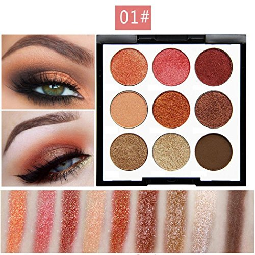 Eyeshadow Palette Makeup Matte Shimmer 9 Colors High Pigment