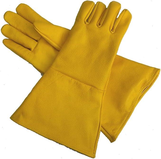 Handschuhe Aus Leder Gelb Größe Xl Sport Freizeit