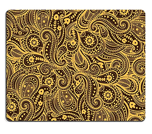 Liili Mouse Pad Natural Rubber Mousepad IMAGE ID: 17930083 Ethnic paisley pattern (Aztec Bookmark)