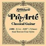 D'Addario J4601 Pro-Arte Nylon Classical Guitar Single String, Hard Tension, First String