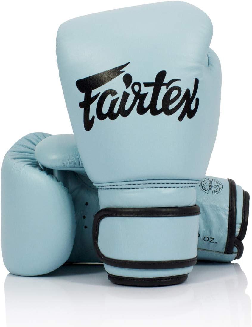 Fairtex 本物 パステルブルー ボクシンググローブ 本革  12oz