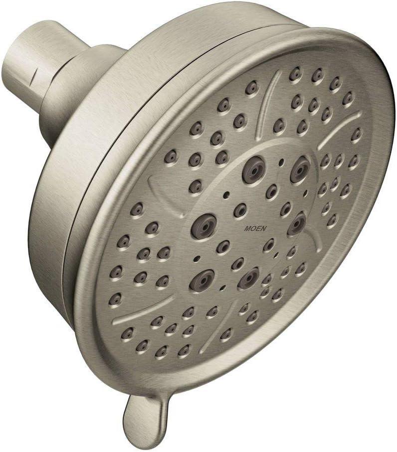 Moen 3638BN Four Function 4.38-Inch Diameter Wallmount Showerhead, Brushed Nickel