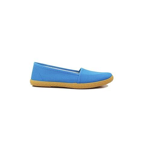 Irabia - Zapatillas Camping Lona Turquesa: Amazon.es: Zapatos y complementos