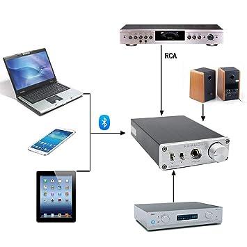 Laurelmartina FX-Audio Dac-x6 Amplificador de Escritorio Preamplificador de Audio Decodificación de Alta fidelidad Amp 24 bit/Sin pérdida de decodificación ...