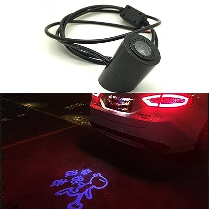 Amazon Com Szss Car Car Laser Tail Logo Led Light Anti Collision