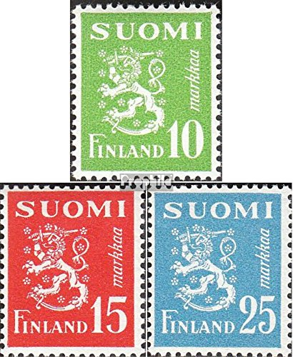 Finland 403-405 (Complete.Issue.) 1952 Clear Brands: Wappenlöwe (Stamps for Collectors)
