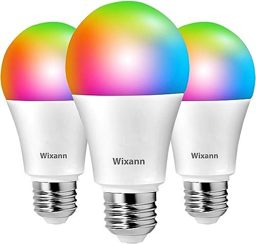Wixann 9W Smart Wi-Fi Light Bulb Compatible