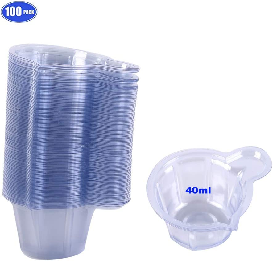 40ML Esee Plastic Disposable Urine Specimen Cups for Ovulation Test//Pregnancy Test//pH Test Etc 100 Pack Urine Cups