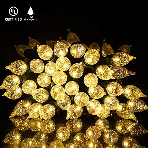 Decorative Lights, 18Ft 70 LED Outdoor Lights, Extendable Plug in Glass Candelabra Lights, Waterproof, Perfect for Indoor and Outdoor Use, UL Listed, Naturous
