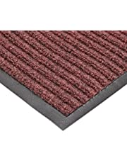 "NoTrax T39 Bristol Ridge Scraper Carpet Mat, for Wet and Dry Areas, 4' Width x 6' Length x 3/8"" Thickness, Cardinal"