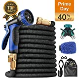 multifun Expandable Garden Hose, Upgraded 50ft Water Hose with 10 Function Spray Nozzle