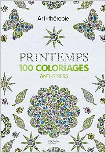 Coloriage Avril Printemps.Amazon Fr Printemps 100 Coloriages Anti Stress De Florence