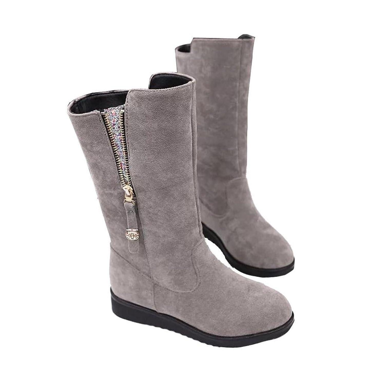 Botas Mujer,Ouneed ® Zapatos de la nieve de la alta calidad de las mujeres de las señoras de la manera calientes planas de la nieve (35, Negro)