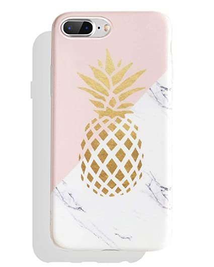 outlet store 3a793 a2776 J.west iPhone 8 Plus Case, iPhone 7 Plus Case, Marble Design Clear Bumper  Matte TPU Soft Rubber Silicone Cover Anti-ScratchThin Back Protective Phone  ...