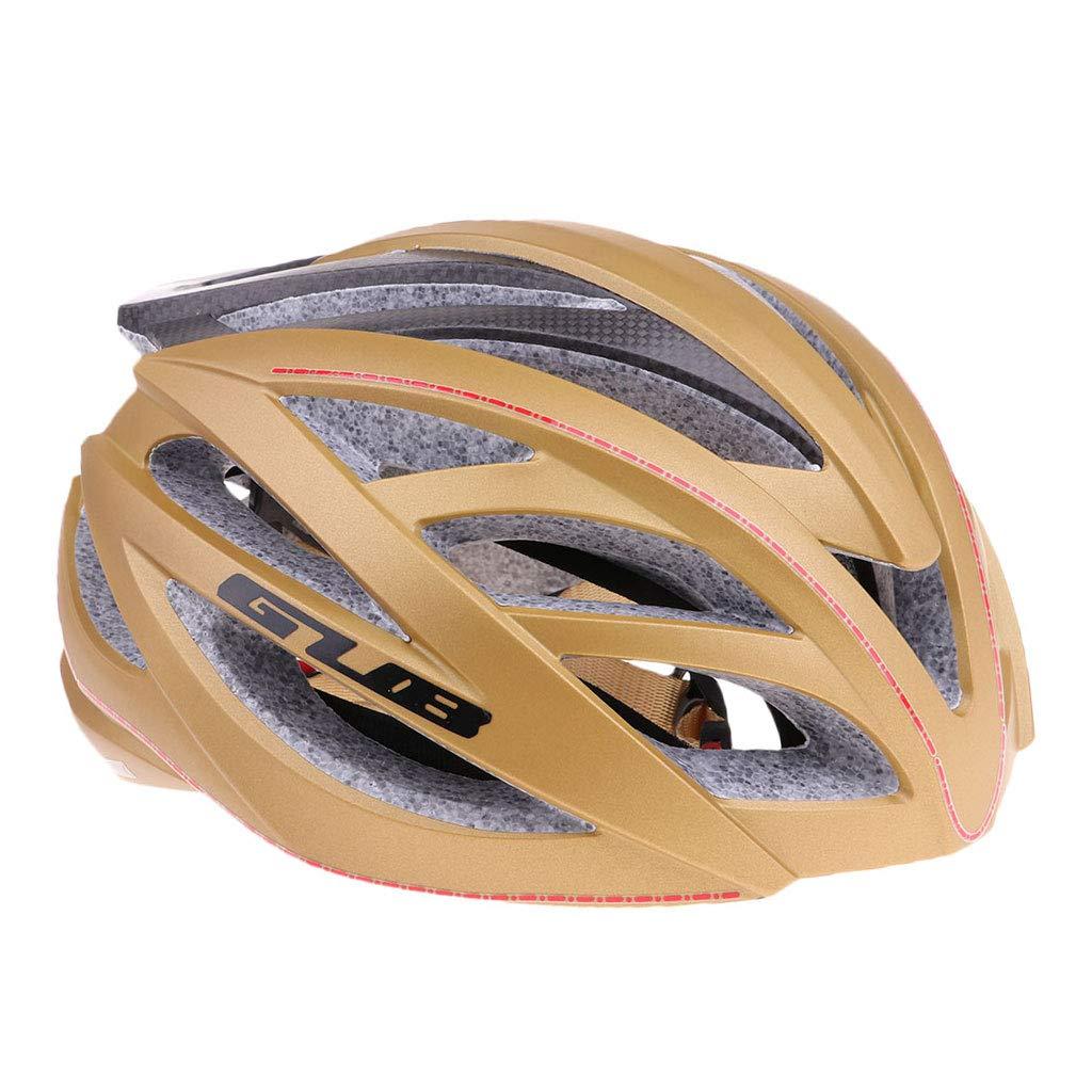 SM SunniMix GUB SV9 自転車ヘルメット 炭素繊維 超軽量 自転車ヘルメット 大人用 通気性 全4色  ゴールデン B07G8NVQTF