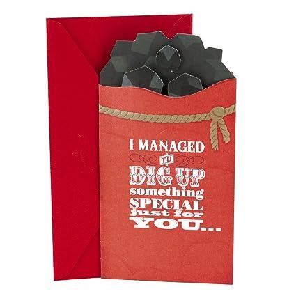 Amazon.com: Hallmark Funny Christmas Money or Gift Card Holder (Coal ...