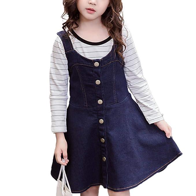 Amazon.com: Vestido y camisas para niñas con correa para ...