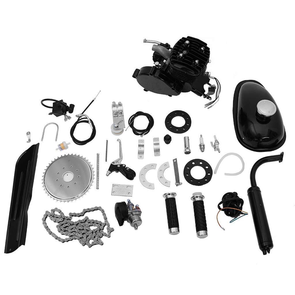 Ama-store 80cc Motorized Bicycle Bike 2 Stroke Gas Motor Engine Kit | Complete Petrol Cycle Motor Set