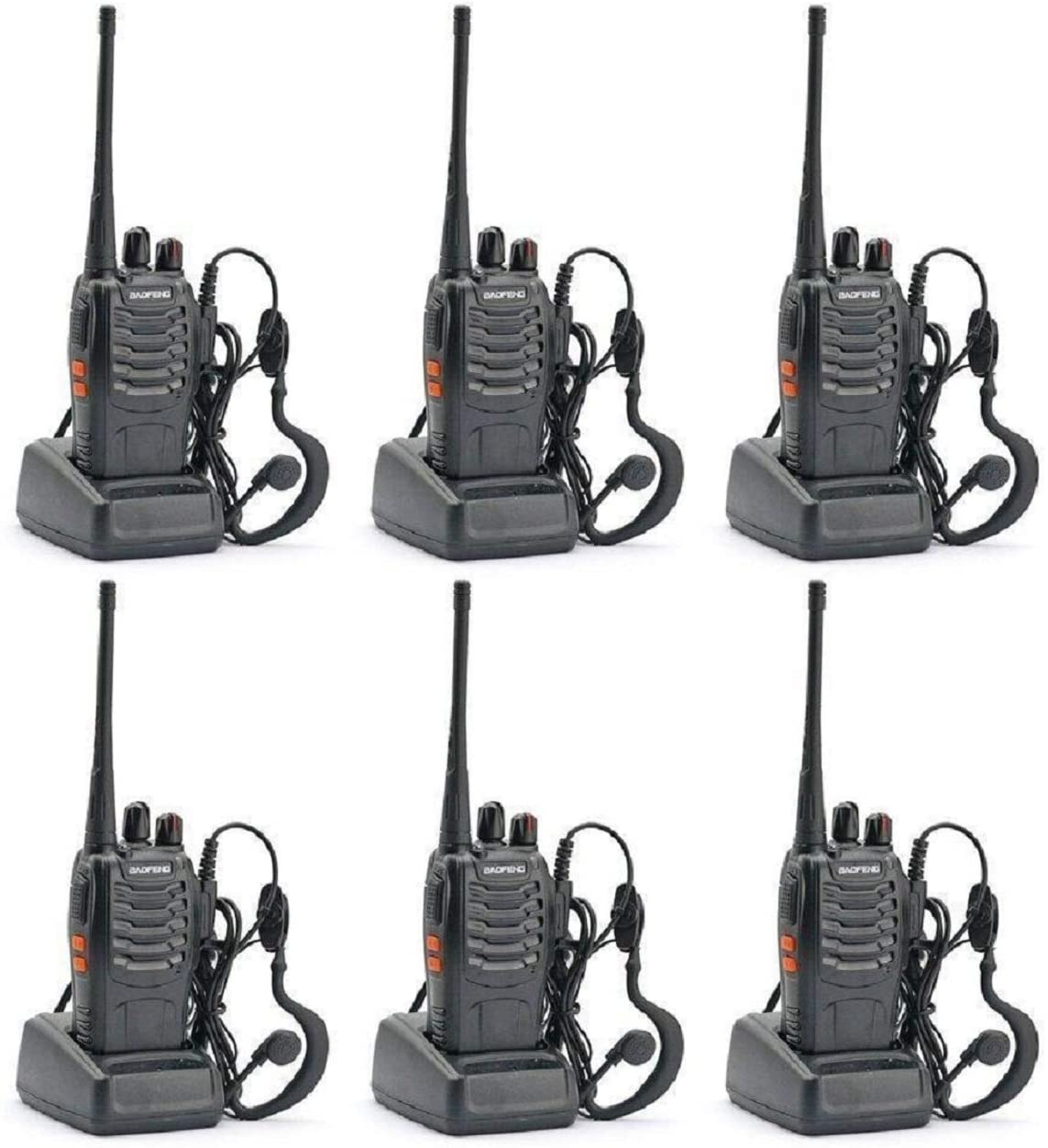 BAOFENG BF-888S Two Way Radio Pack of 6pcs radios – Customize Package