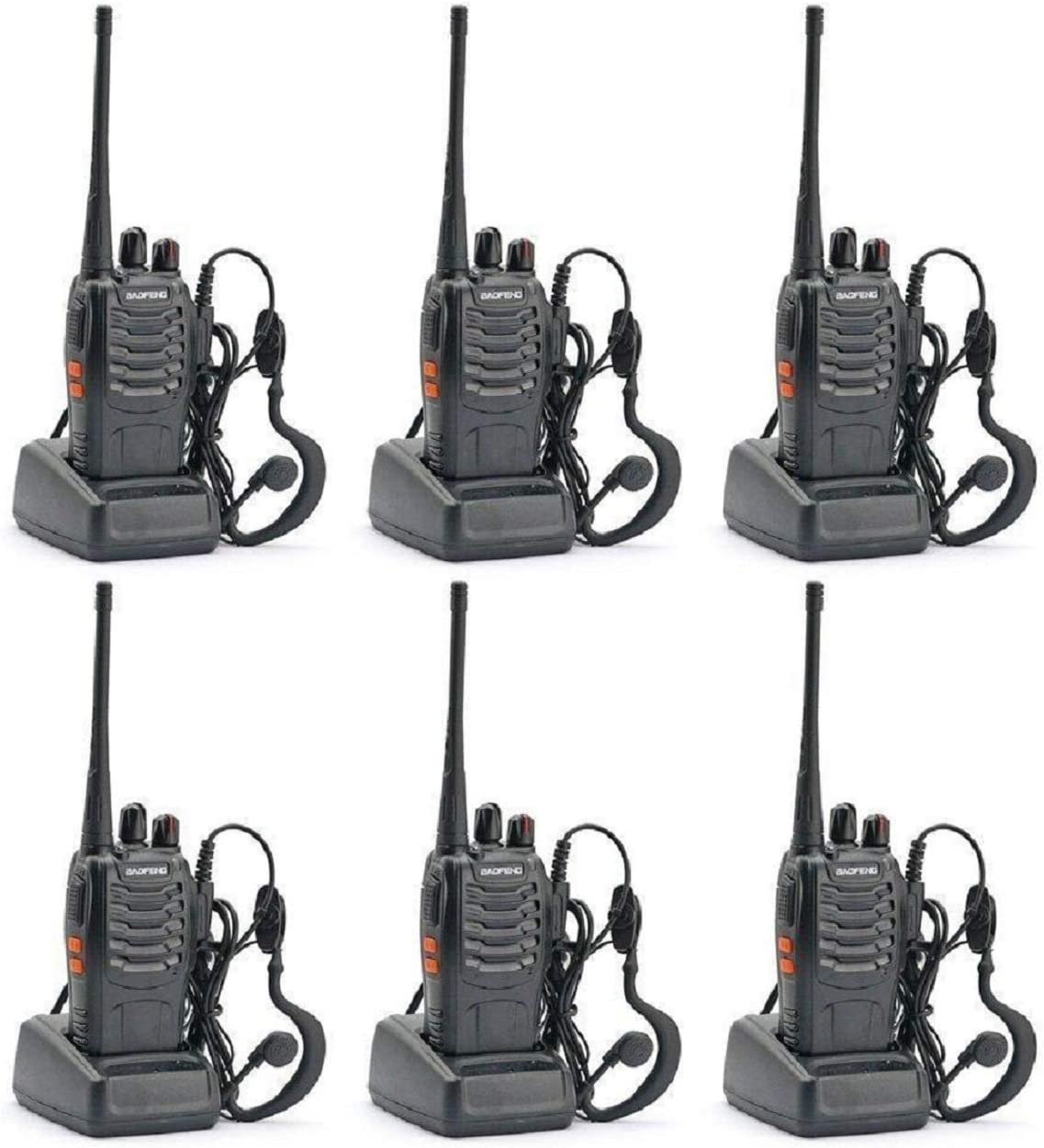 BAOFENG BF-888S Two Way Radio Pack of 6pcs radio