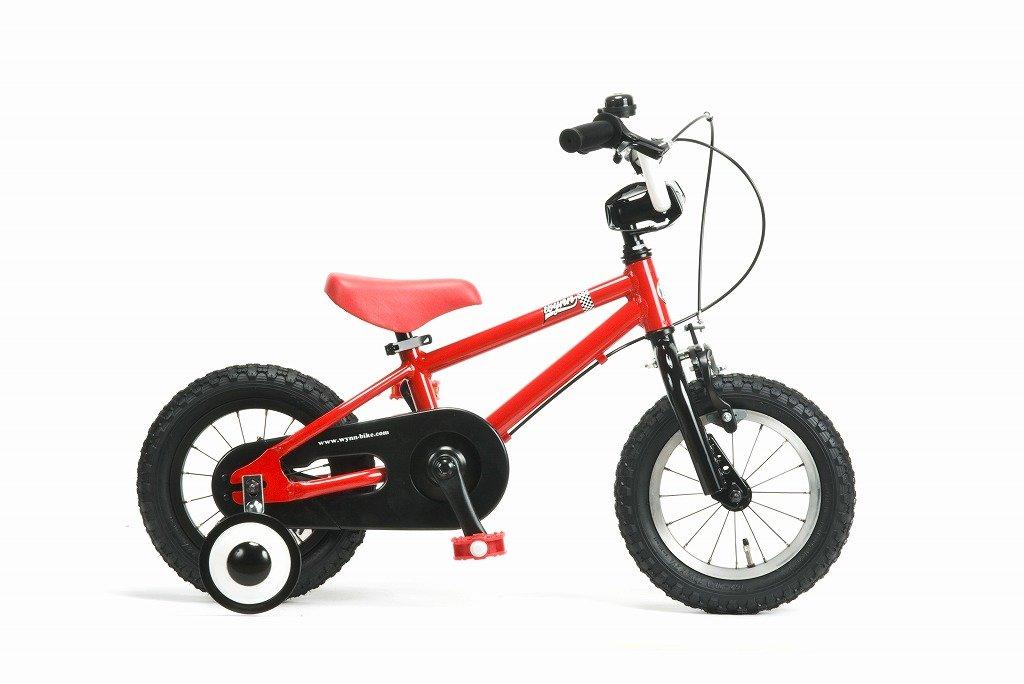 【湘南鵠沼海岸発信】12インチBMX 《RAINBOW Wynn12 12inch》 子供用自転車 12インチ B01N2MQU75 レッド×ブラック レッド×ブラック