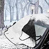 Car Windshield Snow Cover MATCC Magnetic Windshield Winter Protector Sun Shades Cotton Thicker Windshield Protection Cover Fits Most of Car