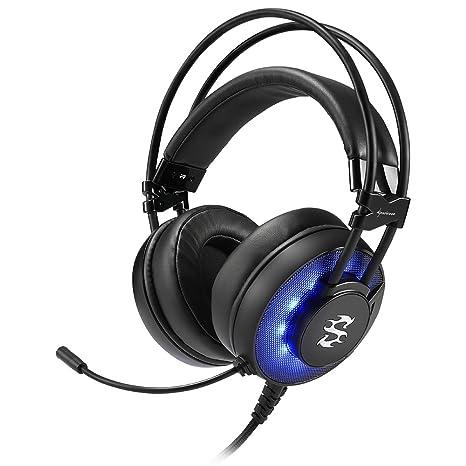 Sharkoon SGH2 - Auriculares Gaming con Cable, Estéreo, Micrófono, Negro/Azul