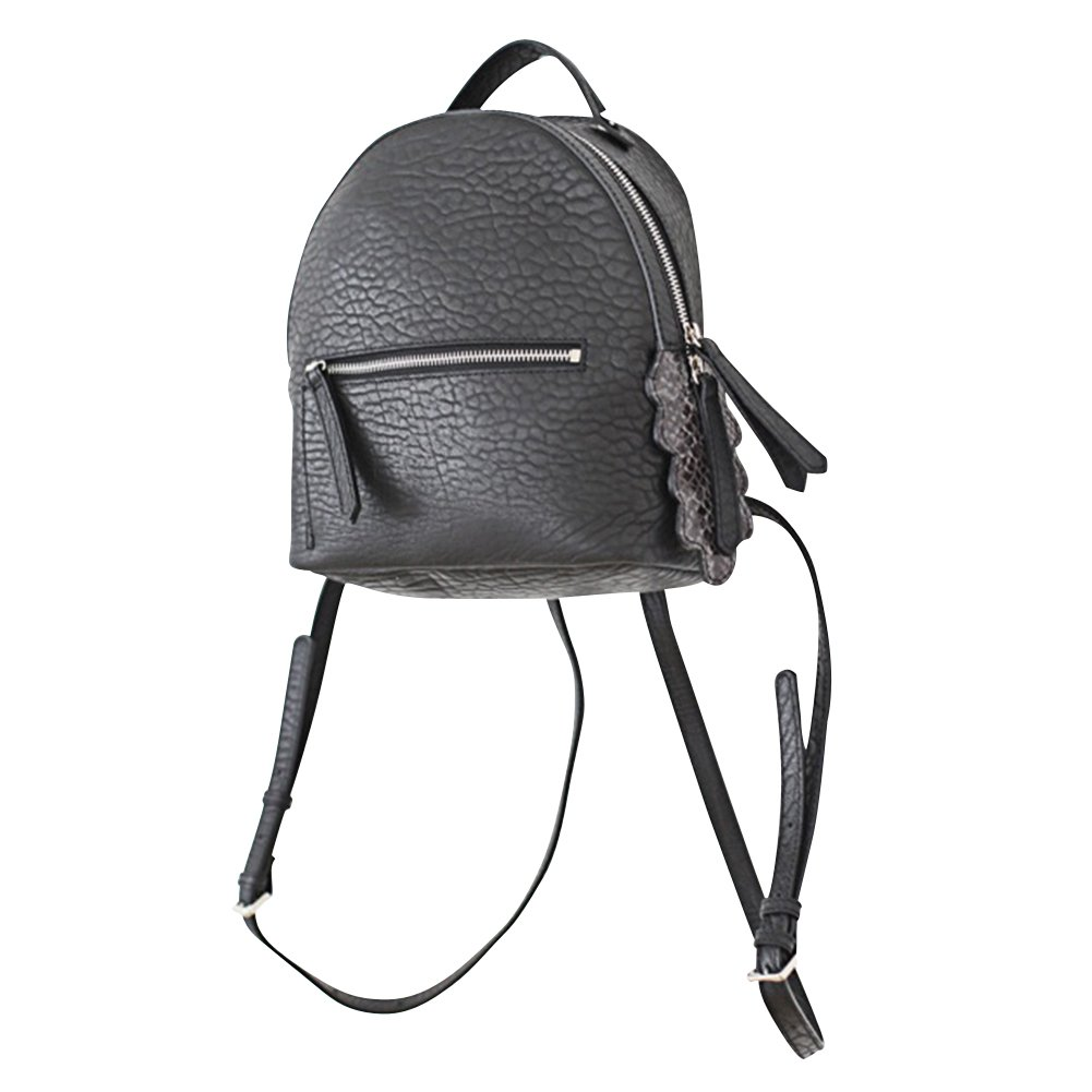 VF P901 Python Tail Leather Backpack Black