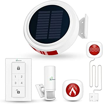 WIRELESS SOLAR HOUSE BURGLAR INTRUDER ALARM PIR MOTORHOME CARAVAN WIFI NOT GSM
