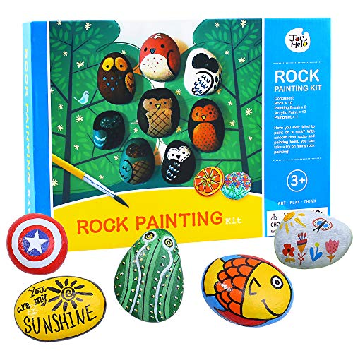 Jar Melo Rock Painting Kit; Non-Toxic; Rock Art; Creative Colorful Magic Stone; Art Creativity; Arts and Crafts Kits for Adults and Kids]()