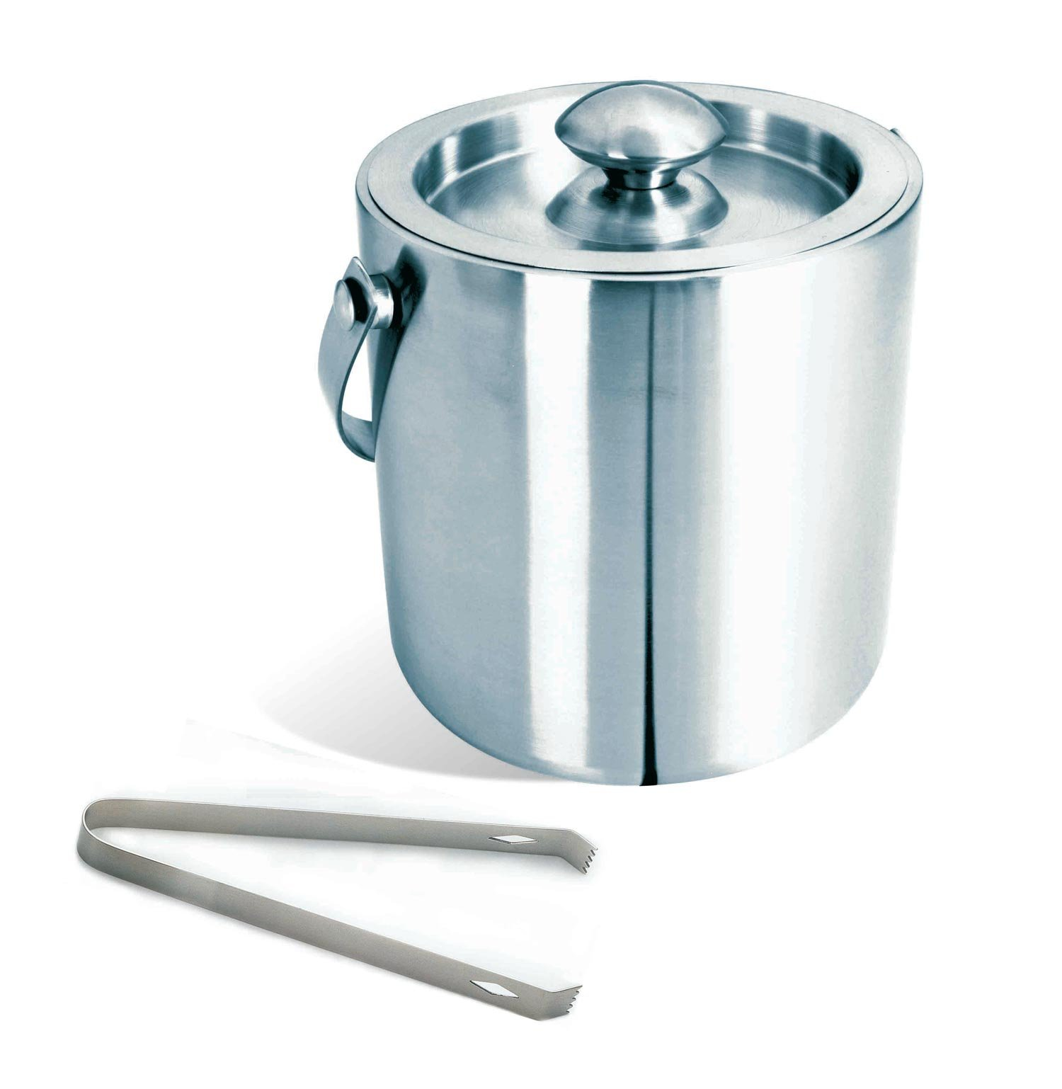 Visol Double Walled Brushed Stainless Steel Ice Bucket with Tongs