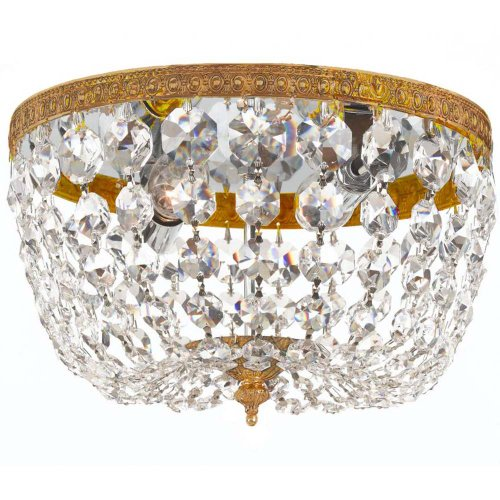 Crystorama 708-OB-CL-S Crystal Two Light Crystal Basket from Richmond collection in Brassfinish,