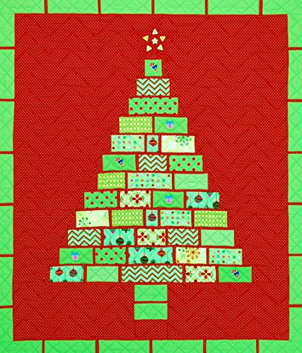 Happy Stash Quilts Christmas Tiles Quilt Pattern, 28 by 3...