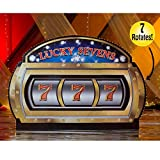 7 ft. 4 in. Rotating Slot Machine Standee