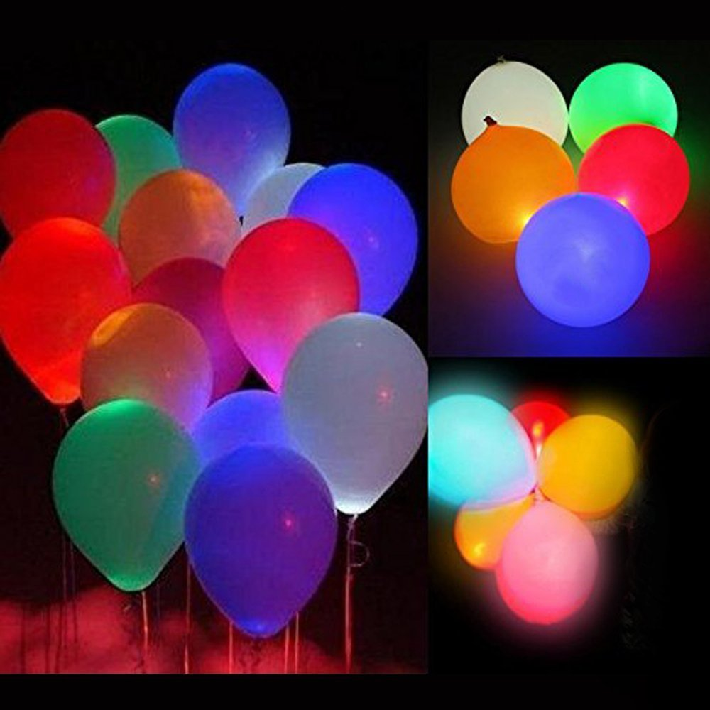 TUPARKA 20 Pcs LED Mini Round Ball Balloon Light Lanterns Lights for Party Decorations