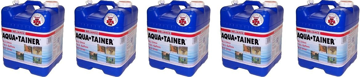 Reliance Products Aqua-Tainer 7 Gallon Rigid Water Container (5-PACK)