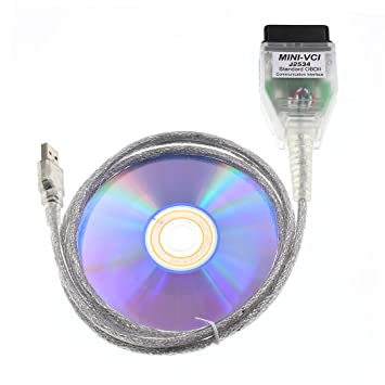 DIAGKING Mini Vci J2534 TIS Techstream Diagnostic Cable for Toyota Firmware V1.4.1 (Newest Version)