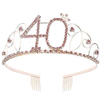Tiara de cristal rosa Cumpleaños Corona Princesa Coronas ...