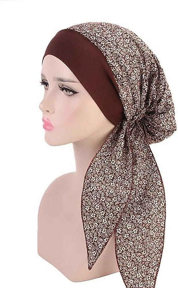 Head Scarf for Women Cotton Head Wrap Turban Hat Ladies Head Cover Bandana Cap Headwear