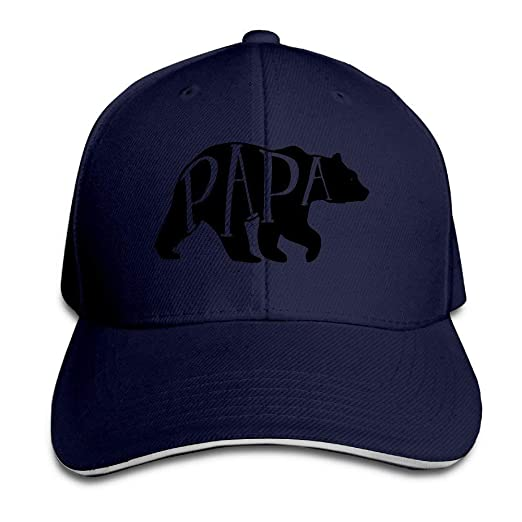 Cool Baseball Cap Papa Bear American Apparel Dads Sandwich Summer ... dee081c0675
