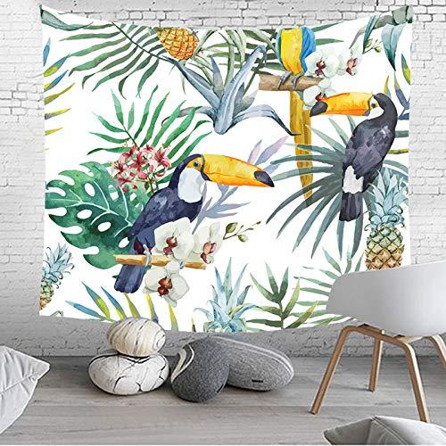Color : 1, Size : 200 * 150 Toucan Tapisserie Imprim/é Motif Tenture Murale Maison Tapis Yoga Feuille Nappe Tapis de lit hippie couvre-lit mural de couverture de plage GT-399