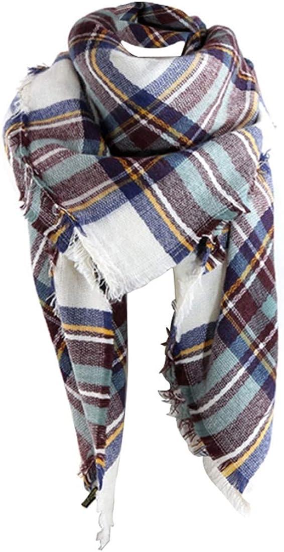 Ubeshine Echarp Foulards XXL /Él/égant Echarpe Pashminas Cachemire Automne Hiver /Écharpe /à Carreaux /Écharpe Chale Femme Chaud Grand Plaid Tissu Glands Poncho Etoles Ch/âles